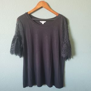 Goth Lace Sleeved Tee